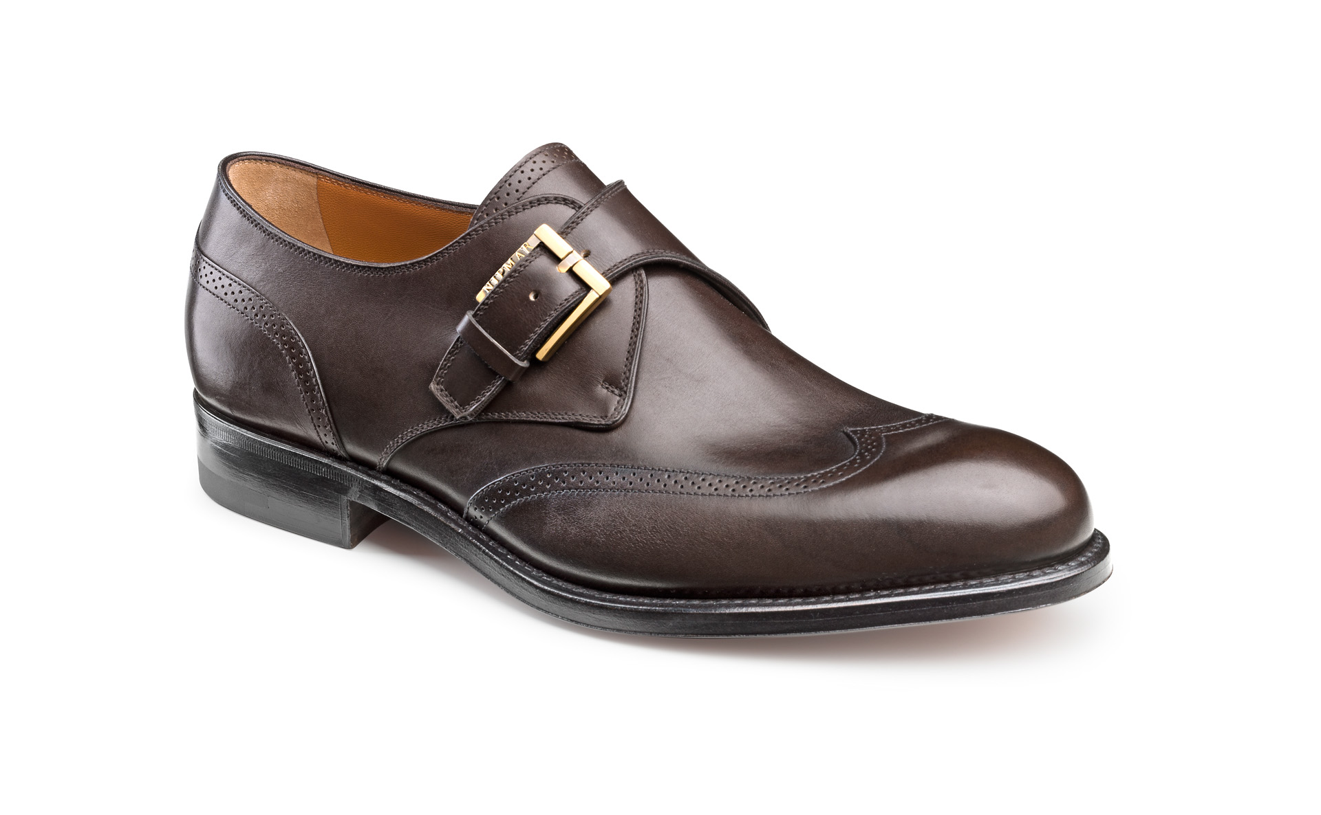 Wing Tip Buckle Shoes