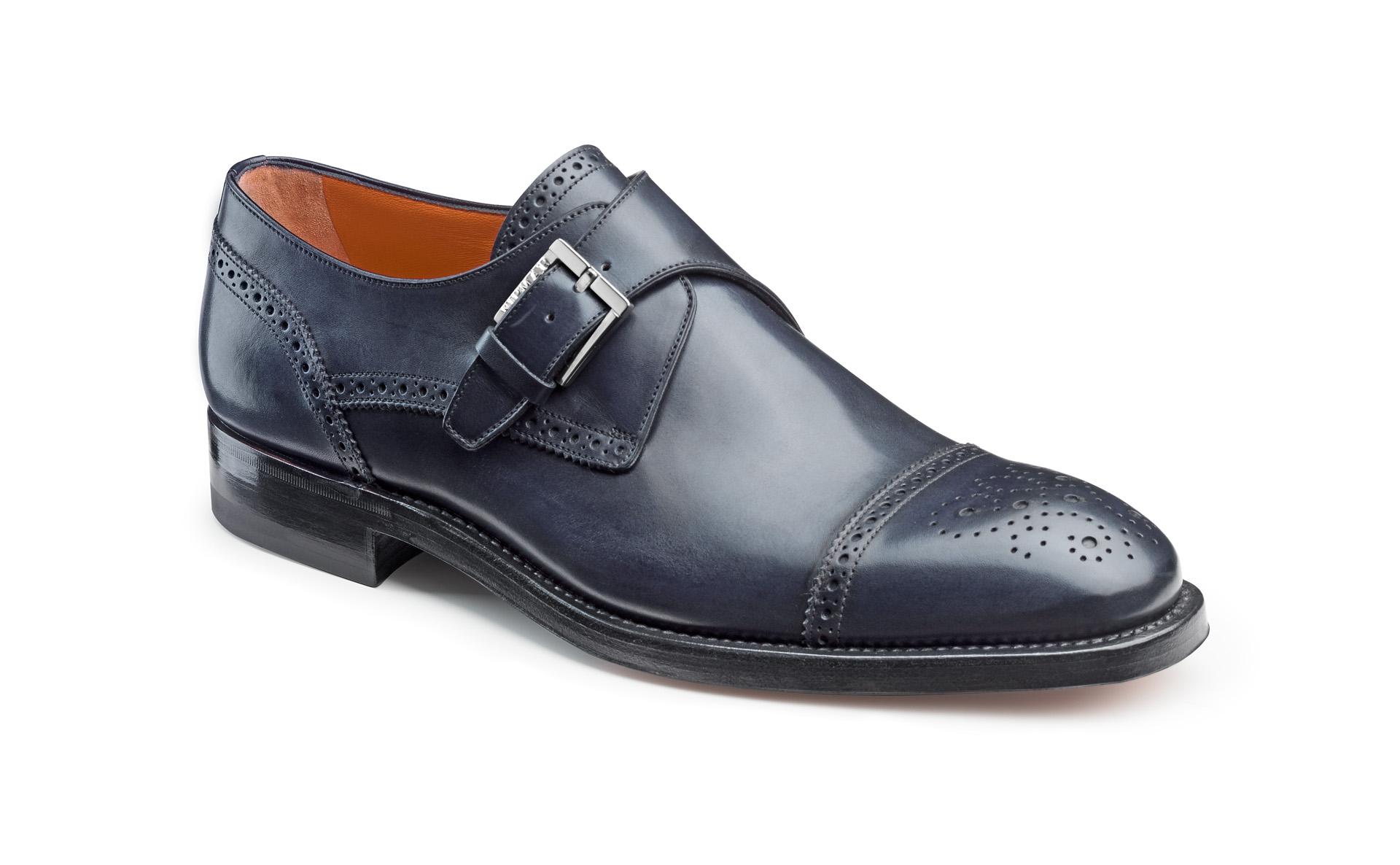 Half Brogue Buckle Shoes