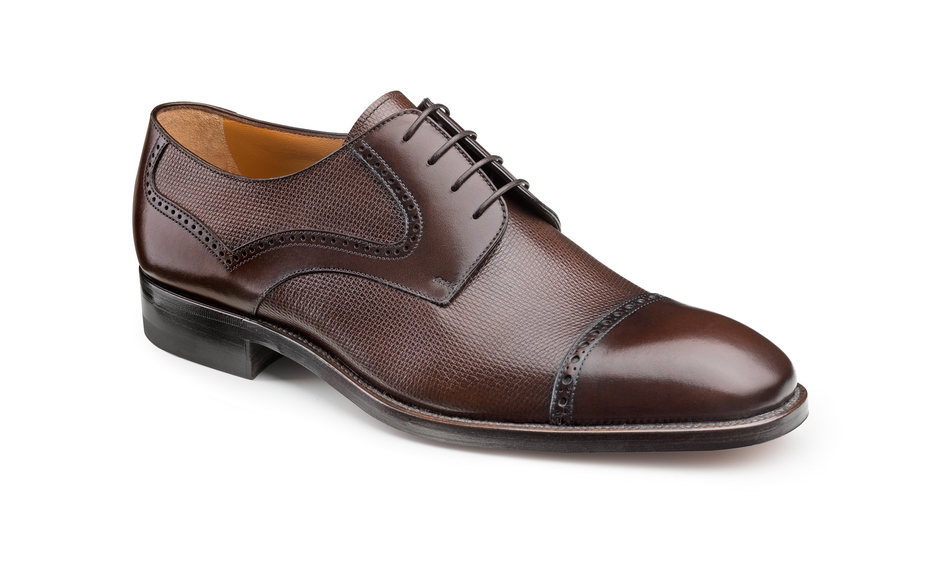 Printed Calfskin Derby Shoes