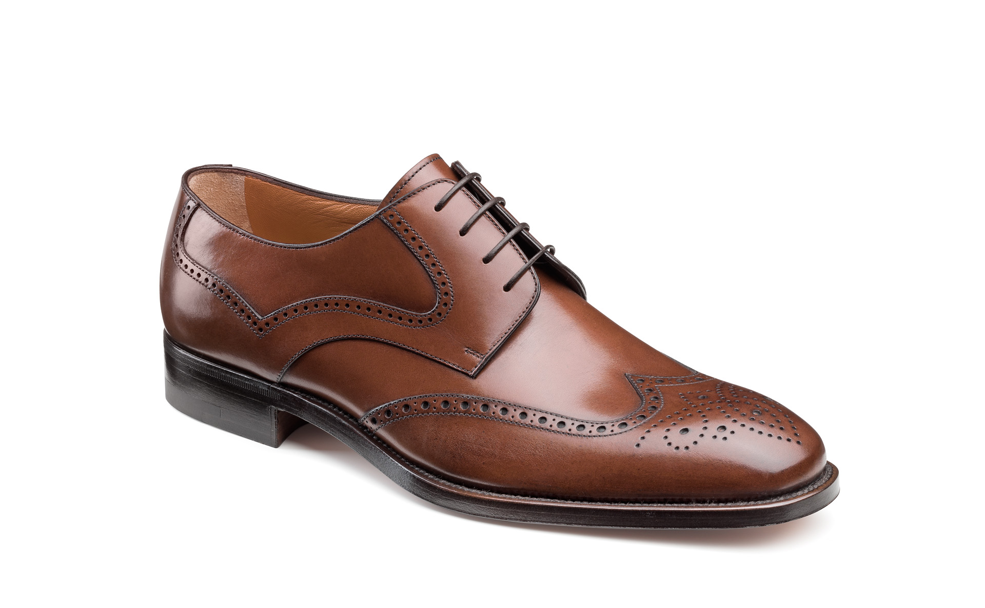 Wing Tip Derby Shoes