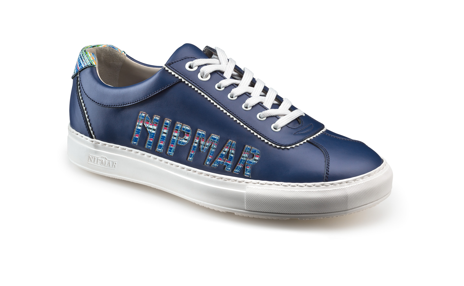 Multicolour Stitched Logo Trainers