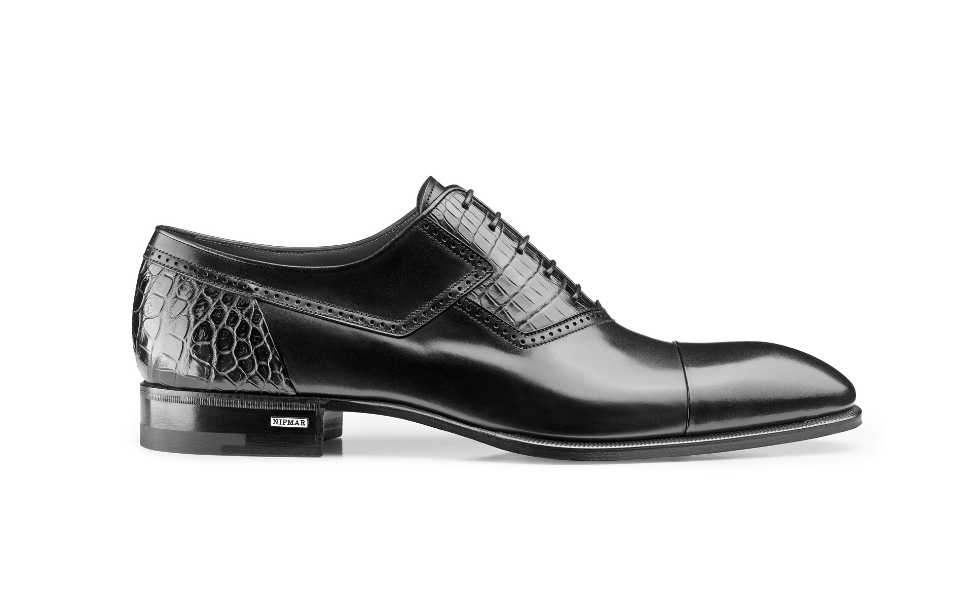 Croco and Calfskin Oxfords