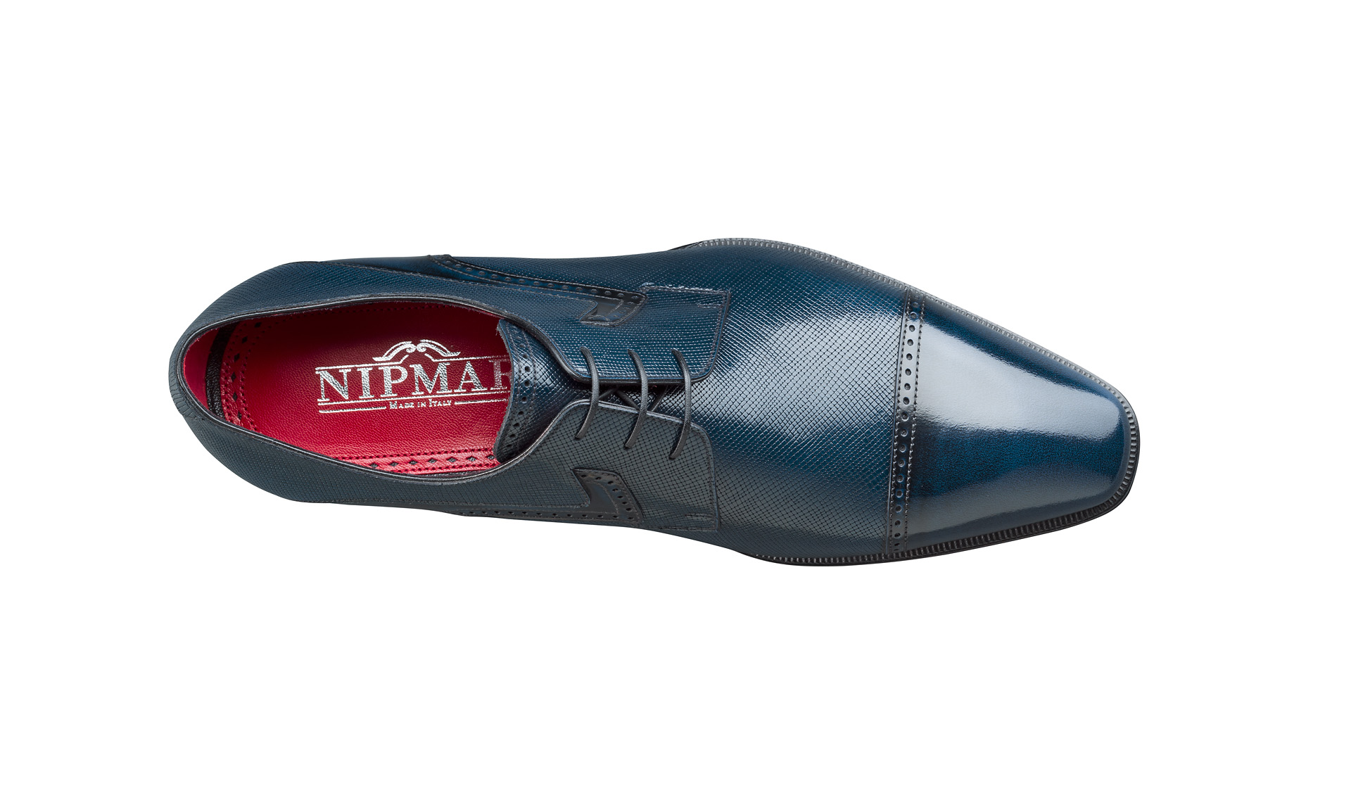 Shade and Printed Calfskin Derby Shoes
