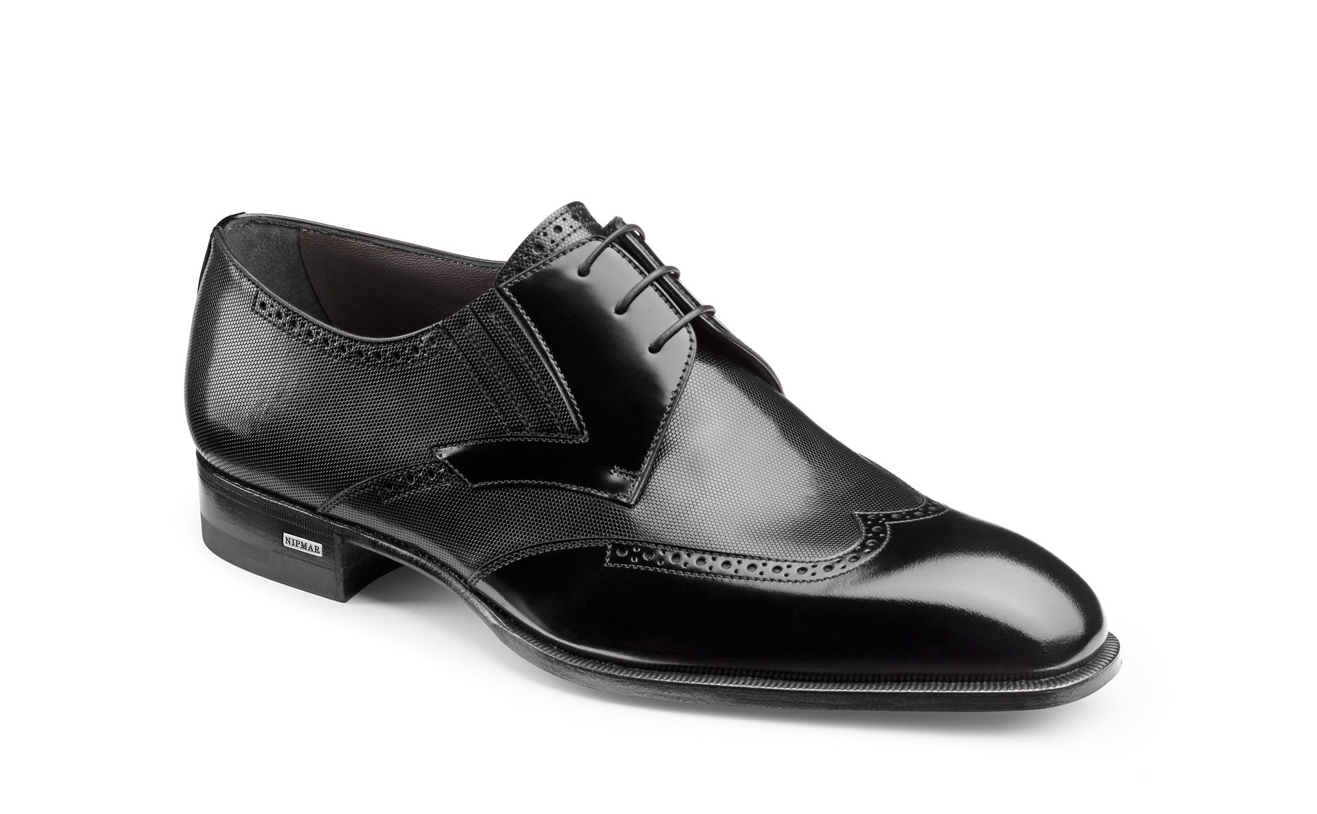 Mixed Calfskin Derby Shoes