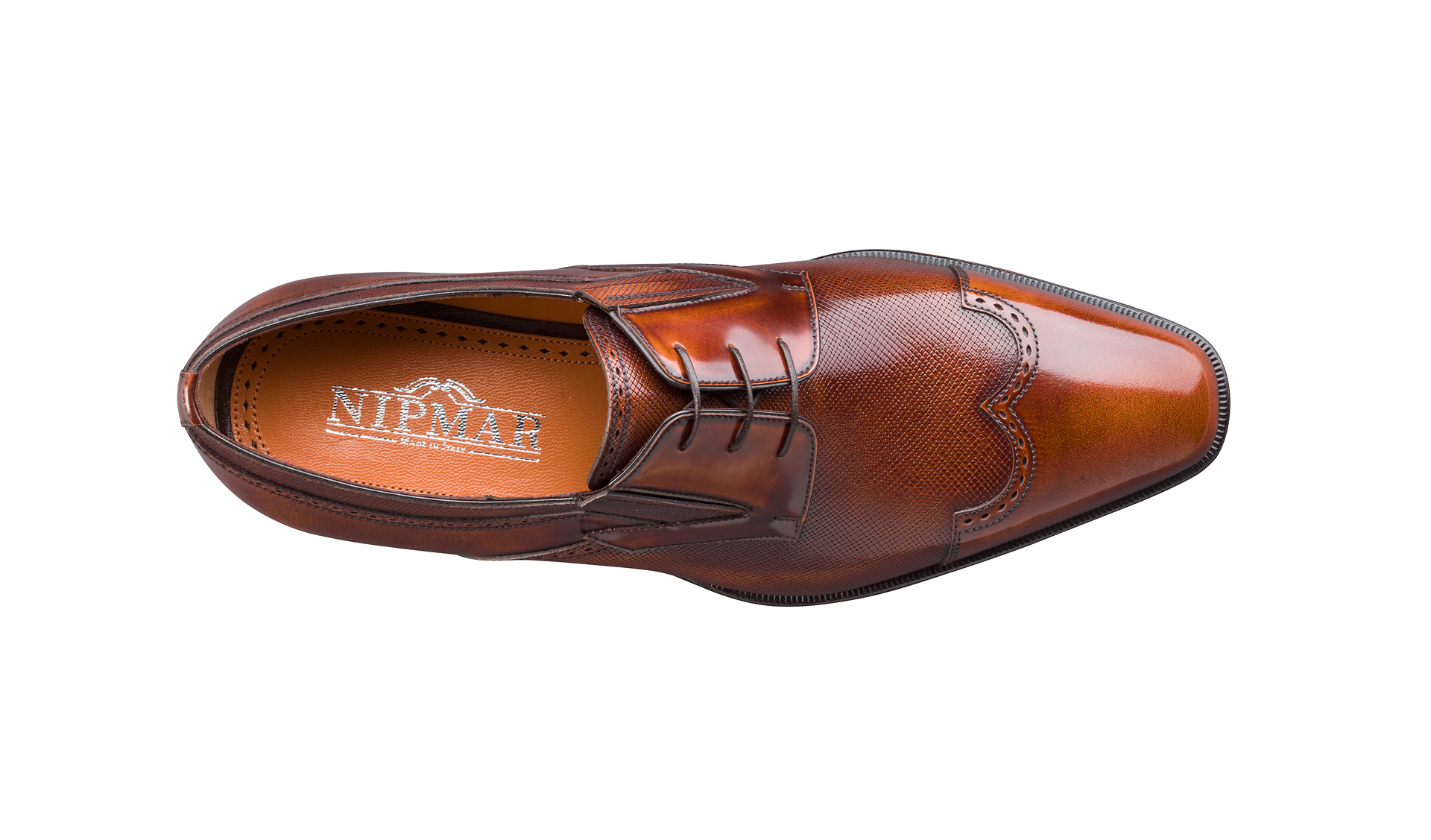 Shine and Printed Calf Derby Shoes