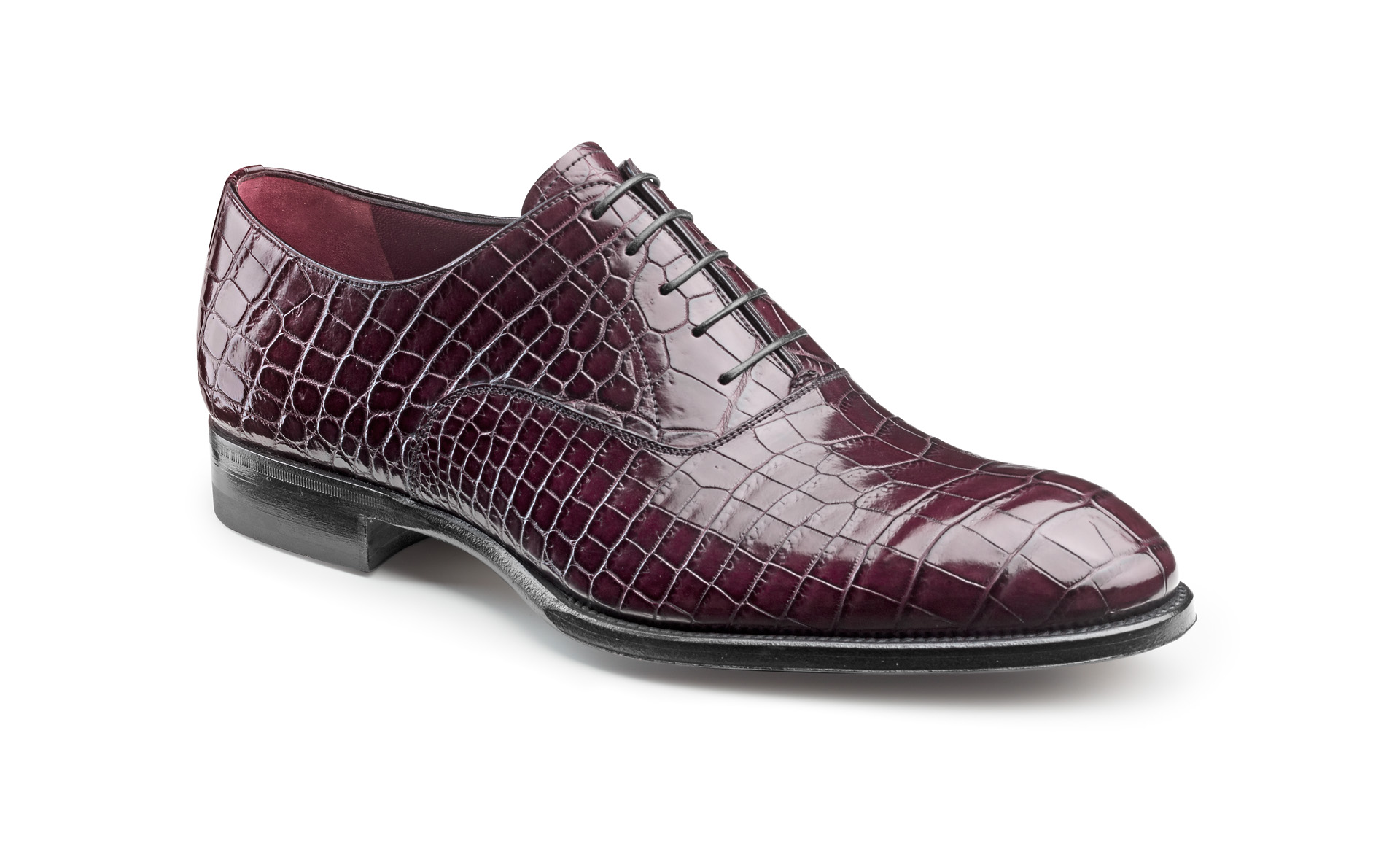Plain Croco Oxfords