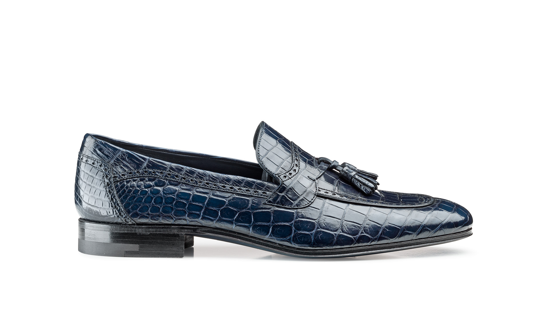 Croco Tassel Loafers