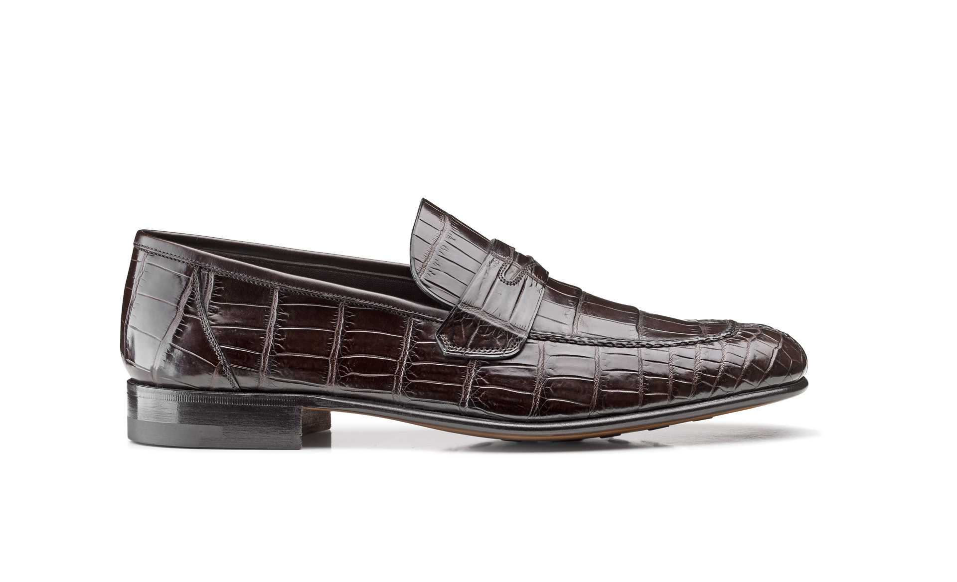 Bologna Construction Croco Loafers